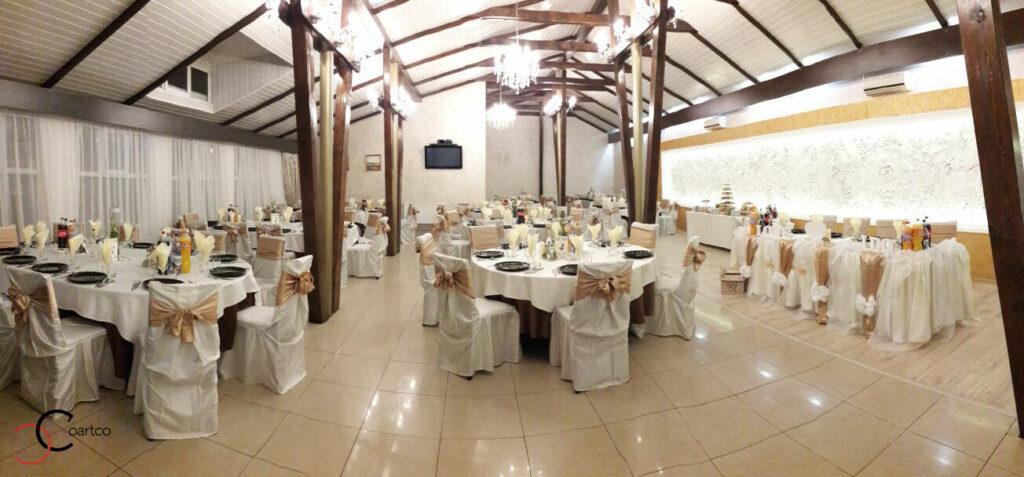 Panou decorativ cu flori din polistiren CoArtCo pentru sali de nunti si saloane de evenimente