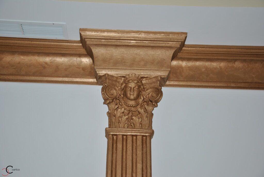 Pilastru decorativ din polistiren CoArtCo pentru interior sala de nunta