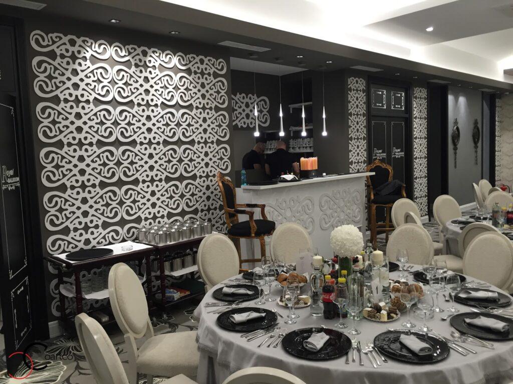 Panou decorativ trafor din polistiren CoArtCo pentru saloane de evenimente si nunti