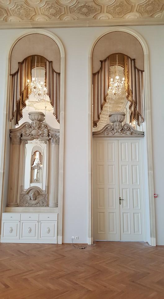 Profile decorative din polistiren CoArtCo pentru interior saloane de evenimente