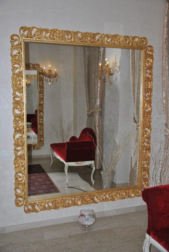 Rama de oglinda decorativa din polistiren CoArtCo pentru amenajare salon de evenimente