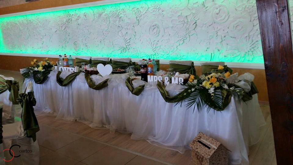 Panou decorativ 3D din polistiren CoArtCo pentru salon de evenimente si nunti in Bistrita