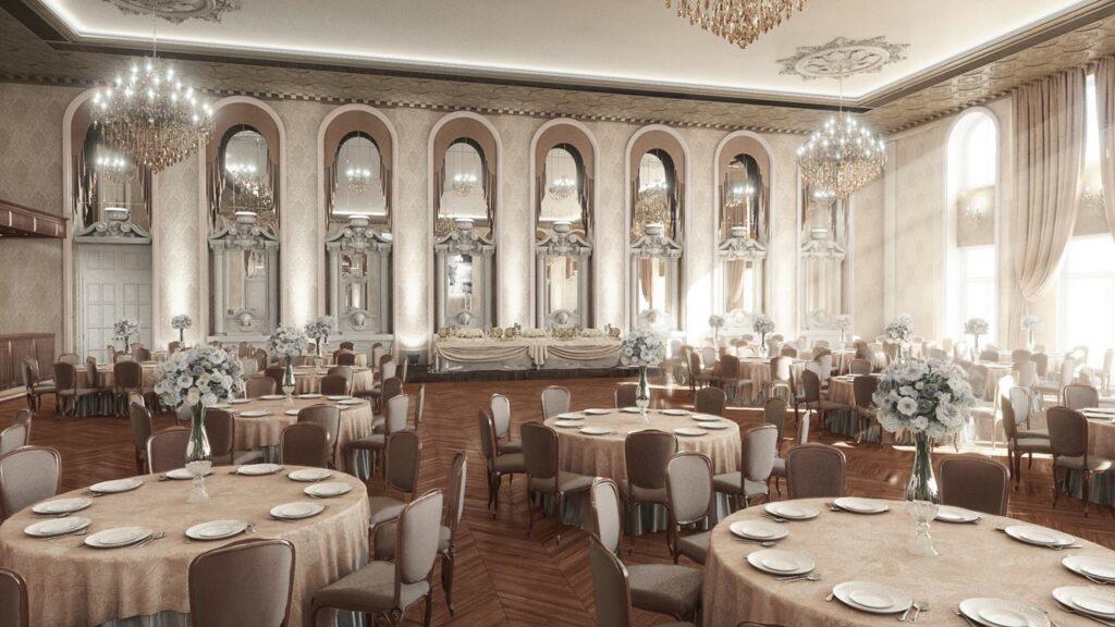 Sala de nunti si evenimente cu profile decorative din polistiren CoArtCo