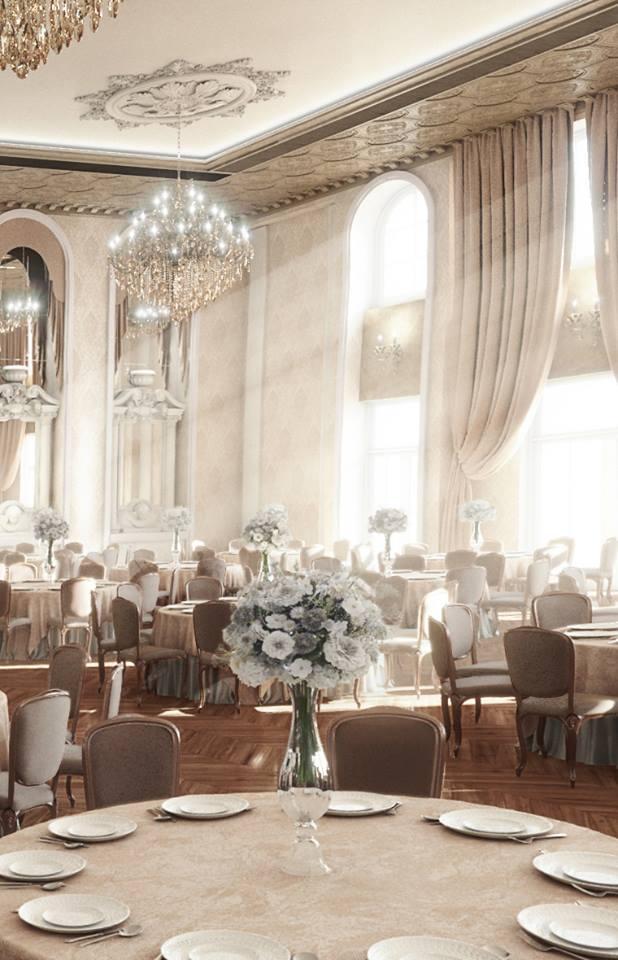Salon de evenimente cu profile decorative din polistiren CoArtCo