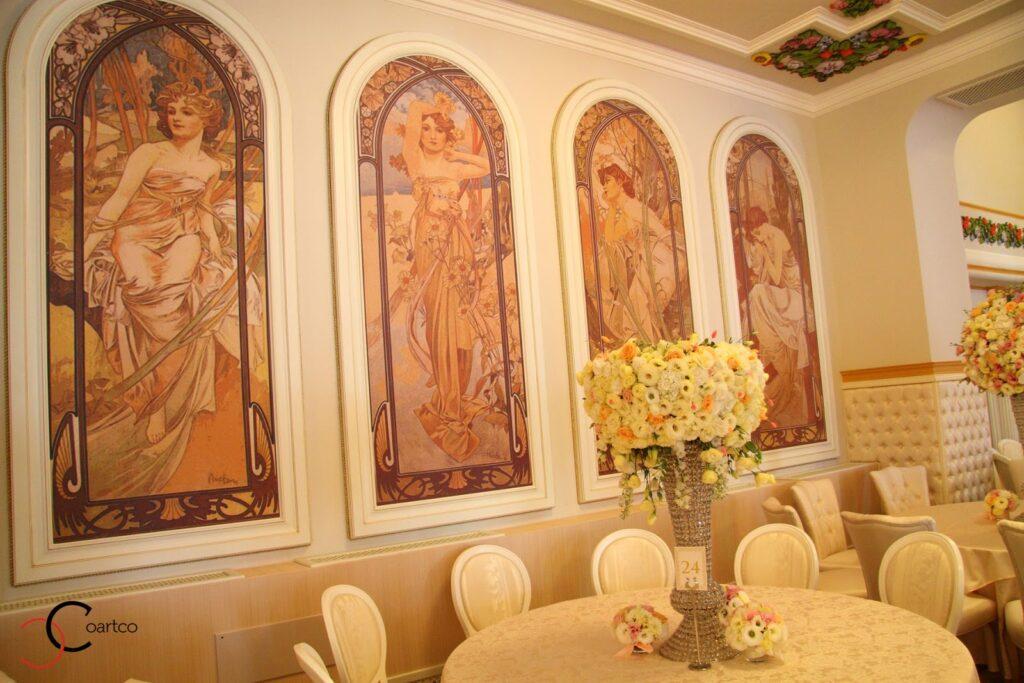 Profile decorative din polistiren CoArtCo pentru salon de evenimente Oradea