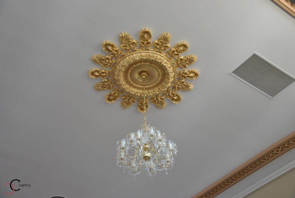 Rozeta decorativa din polistiren CoArtCo pentru decorare tavan