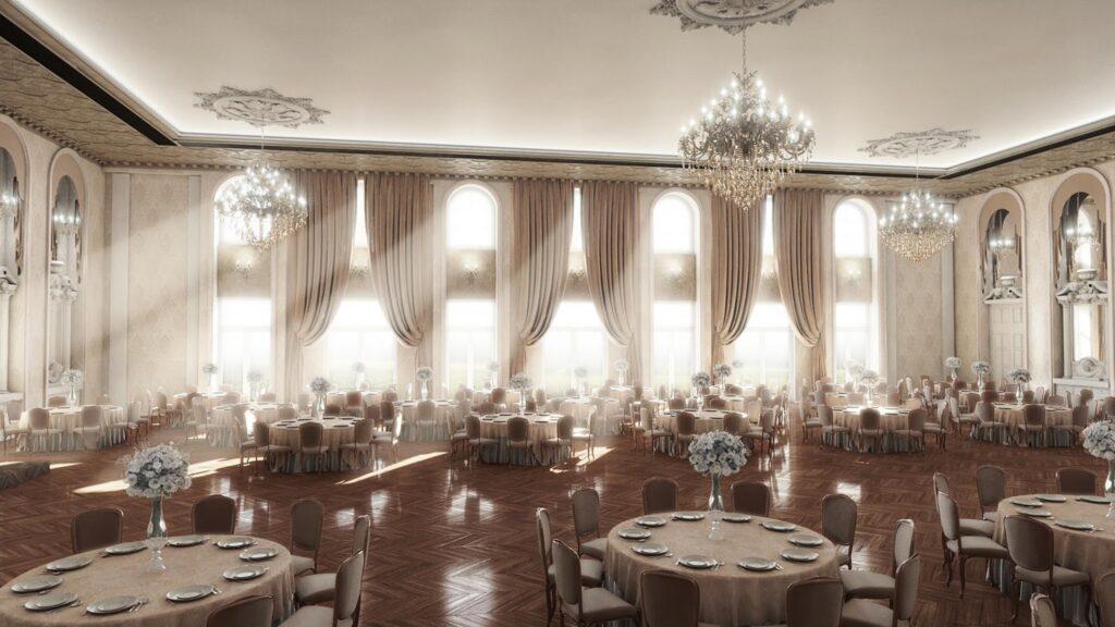 Sala de evenimente cu profile decorative CoArtCo