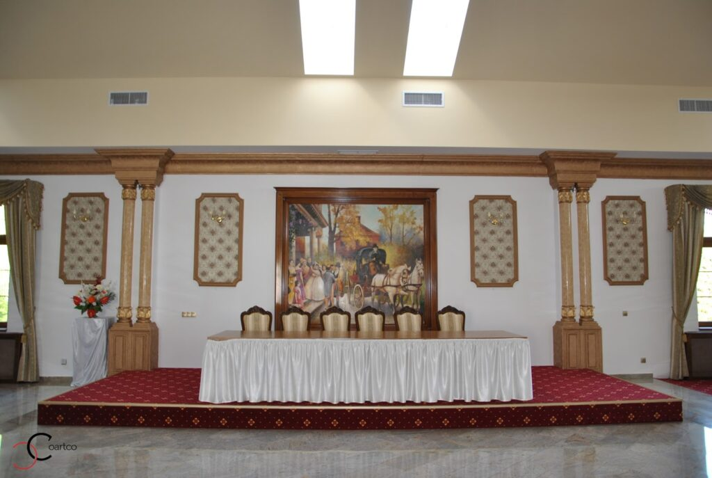 Profile decorative din polistiren CoArtCo pentru amenajare saloane de evenimente