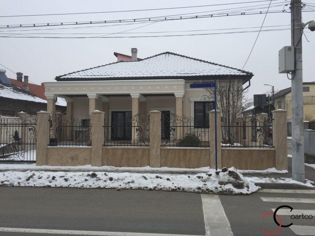 Fatada casa rezidentiala cu profile decorative din polistiren CoArtCo