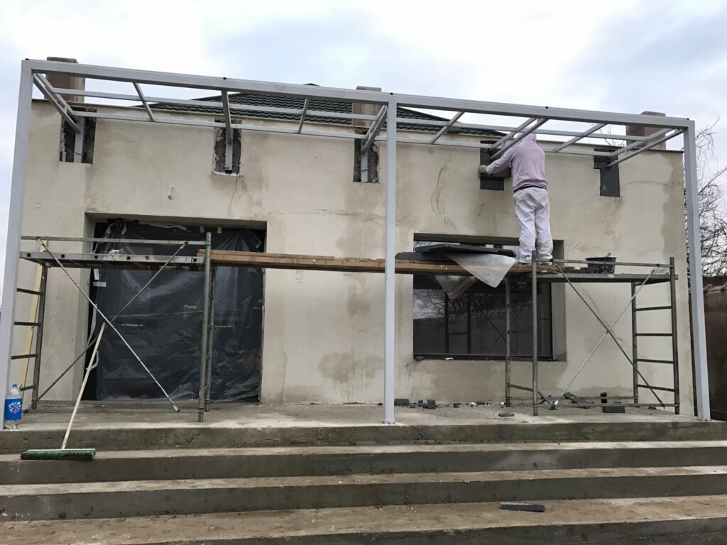 Constructie terasa metalica cu profile decorative CoArtCo