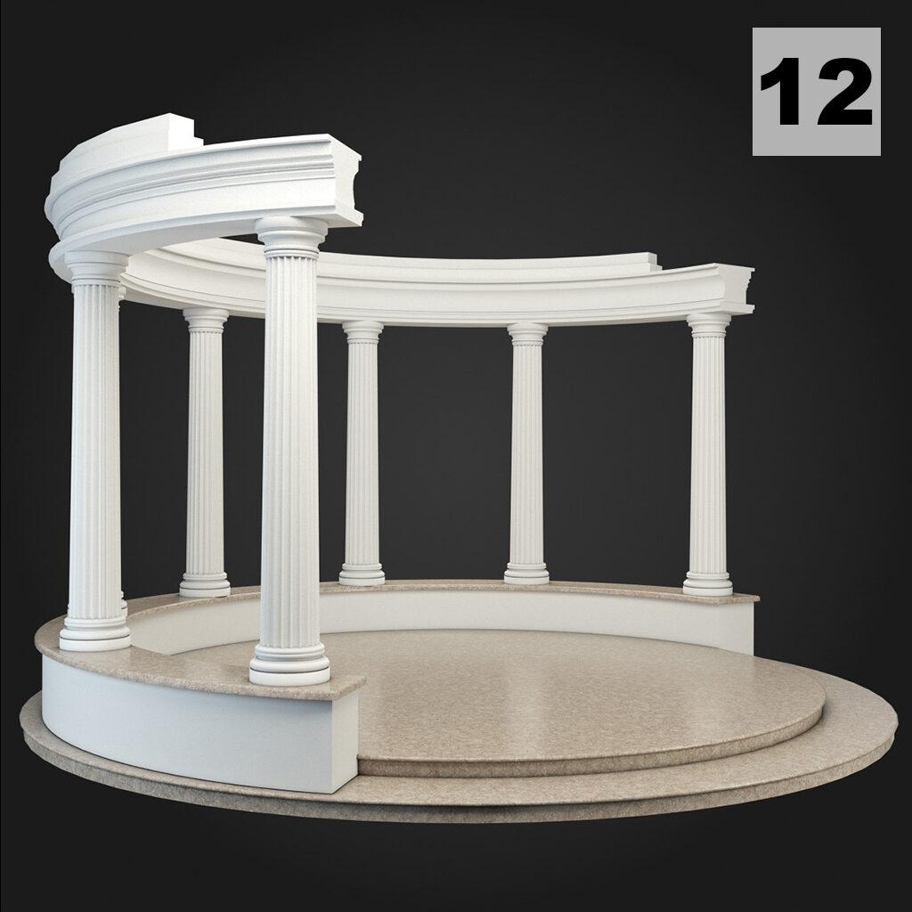 Foisoare din profile decorative din polistiren CoArtco si coloane decorative