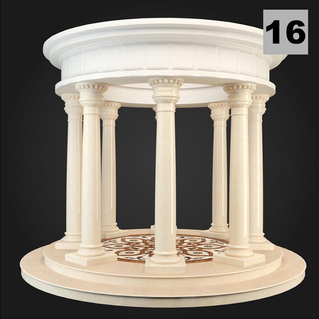 Foisoare decorative din polistiren cu coloane