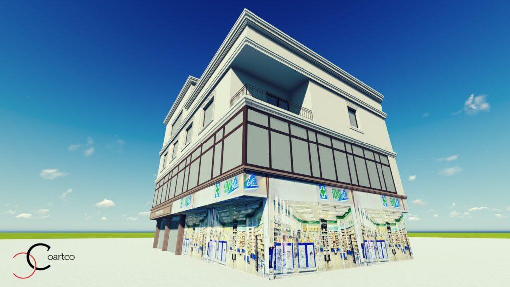 Proiect simulare fatada casa cu profile din polistiren CoArtCo