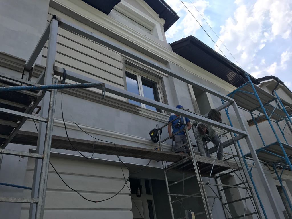 Constructie terasa cu structura metalica