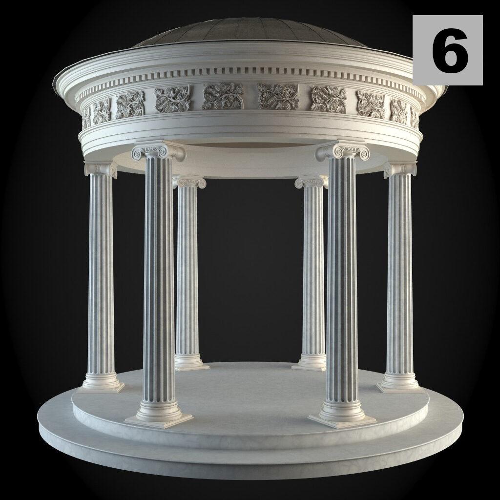 Foisoare decorative cu profile din polistiren si coloane