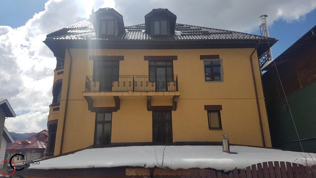 Fatada pensiune Casa Dunarea din Predeal fara profile decorative CoArtCo