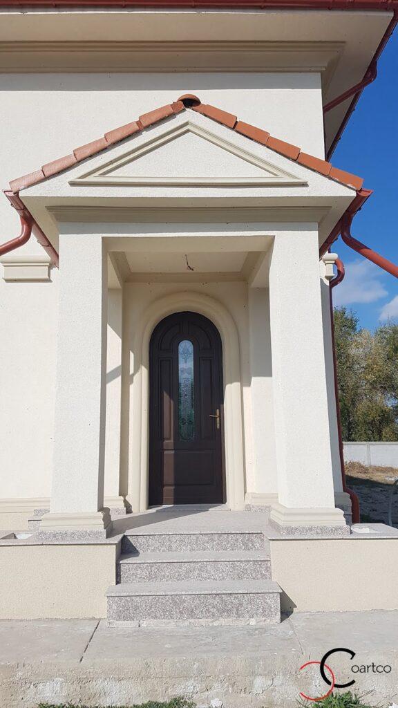 Fronton intrare casa si cornisa decorativa din polistiren CoArtCo