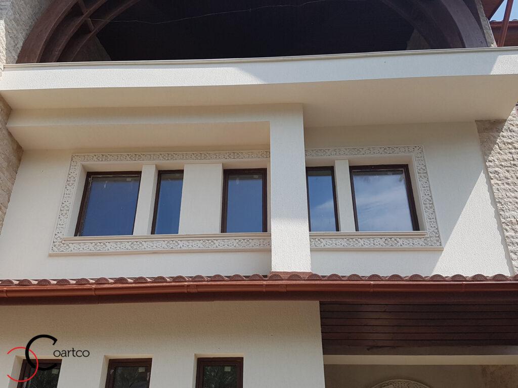 Ancadrament fereastra neoromanesc personalizat din polistiren CoArtCo