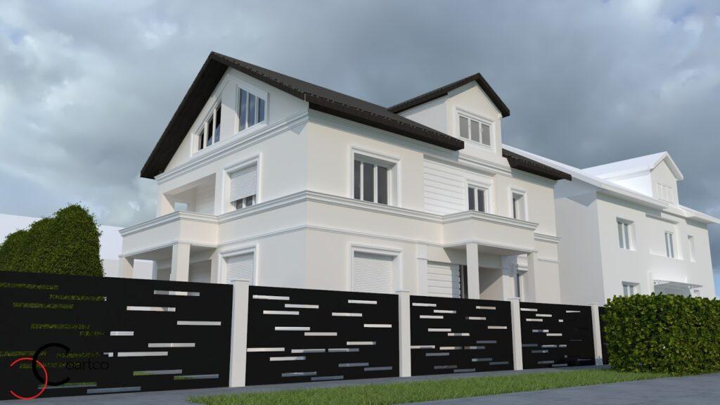 Proiect simulare fatada casa cu profile decorative personalizate CoArtCo