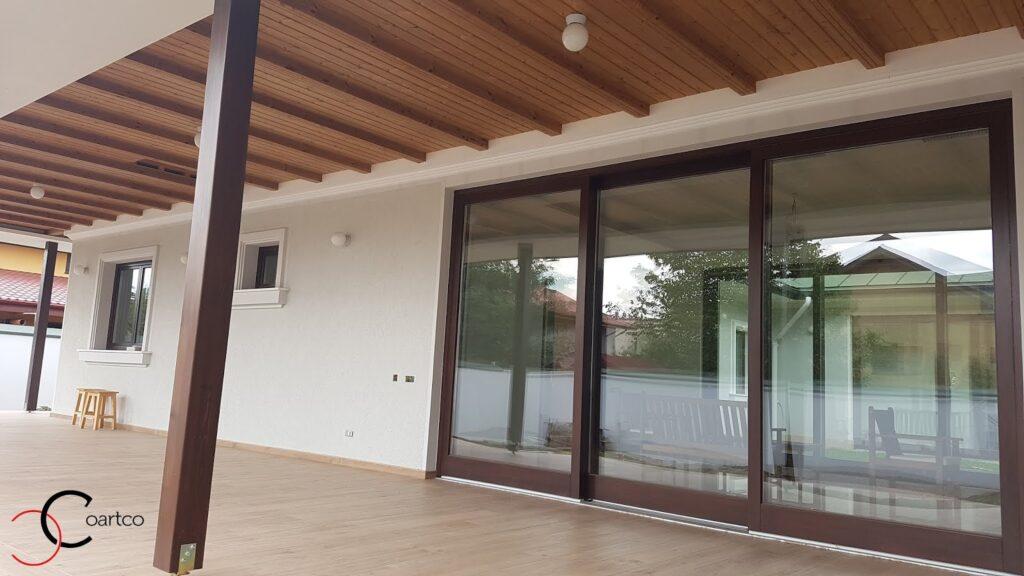Cornisa decorativa din polistiren CoArtCo si ancadramente cu solbanc pentru ferestre