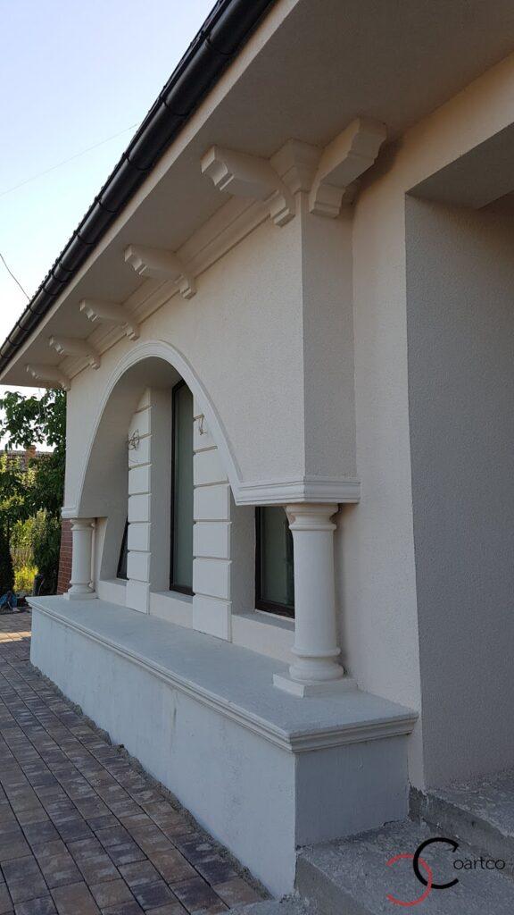 Coloane decorative din polistiren cu arcada pentru fereastra CoArtCo