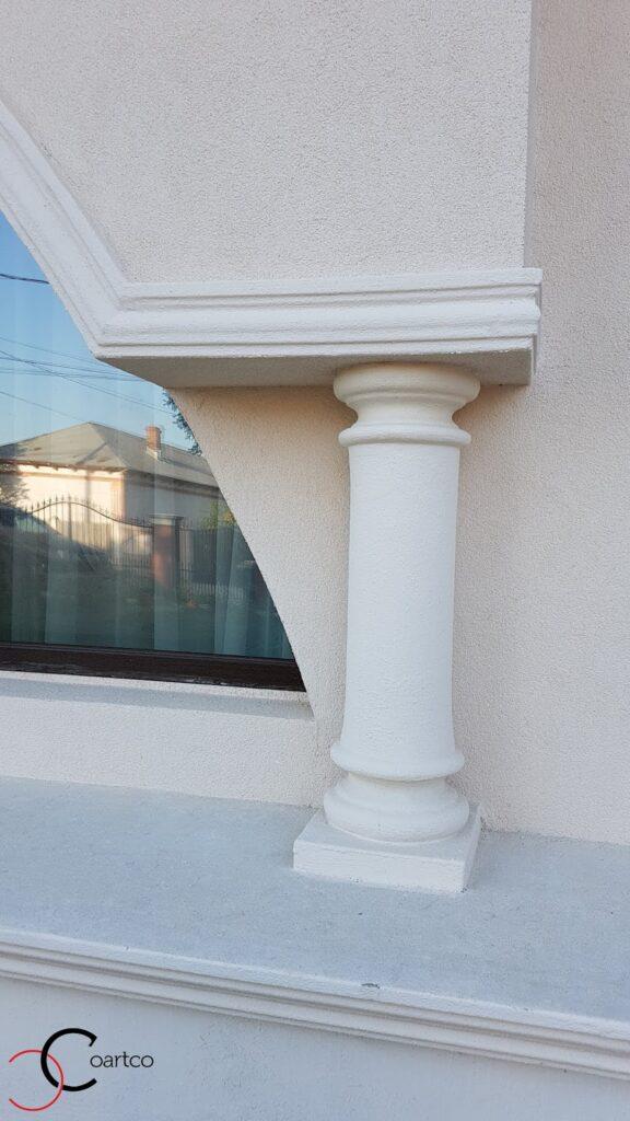 Coloana simpla decorativa pentru fatada casa din polistiren CoArtCo