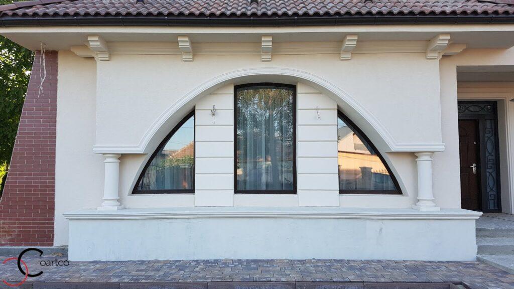Arcada ferestre din polistiren CoArtCo cu coloane si cornisa cu console