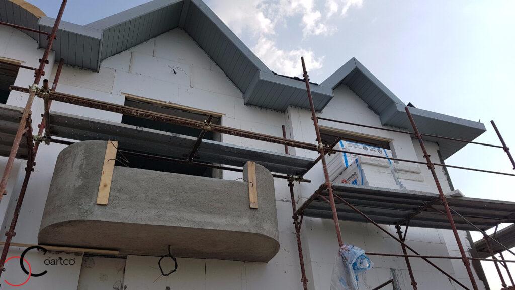 Manopera fatada casa cu profile personalizate CoArtCo