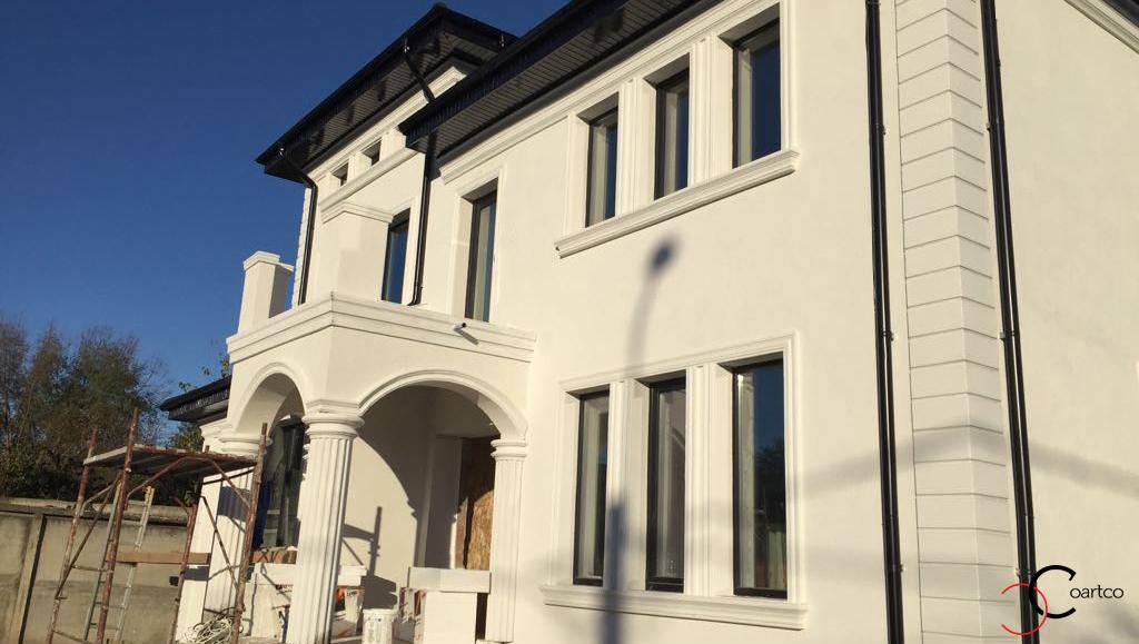 Proiect fatada casa rezidentiala cu profile decorative CoArtCo in Galati