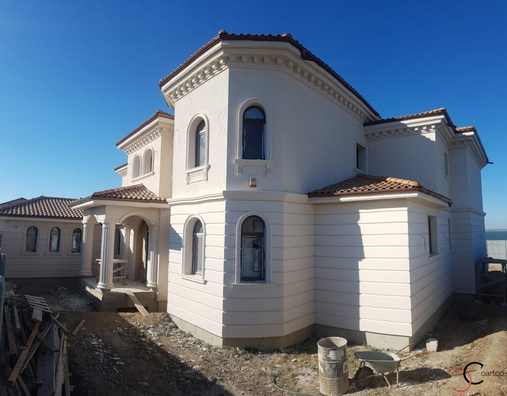 Amenajare fatade casa cu profile decorative din polistiren CoArtCo
