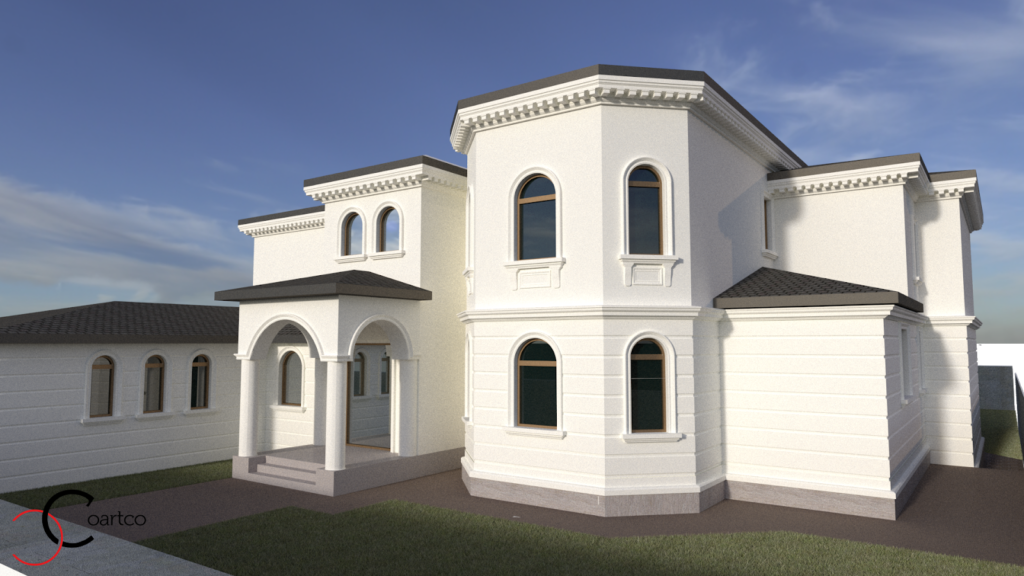 Simulare design fatada casa CoArtCo