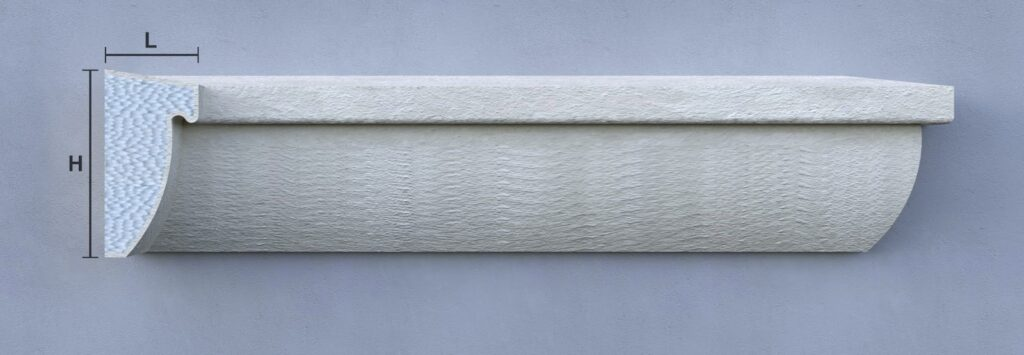 Profile decorative din polistiren CoArtCo solbanc personalizat