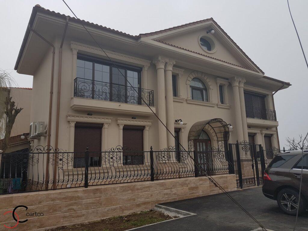 Proiect casa rezidentiala Constanta cu profile decorative personalizate din polistiren CoArtCo