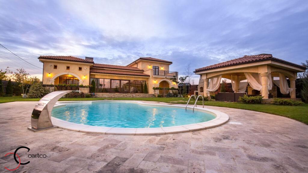 Fatada casa mediteraneana cu profile din polistiren CoArtCo