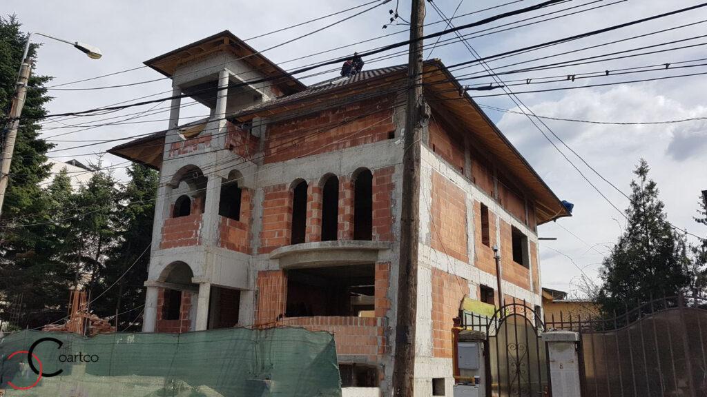 Constructie fatada casa cu profile decorative CoArtCo