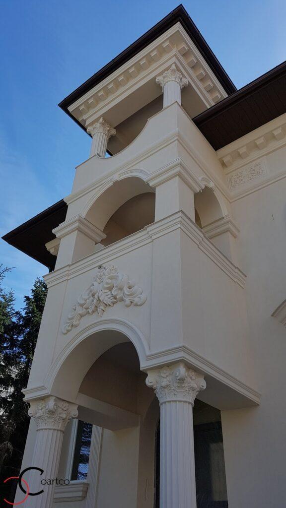 Coloane decorative si arcade intrare casa din polistiren CoArtCo