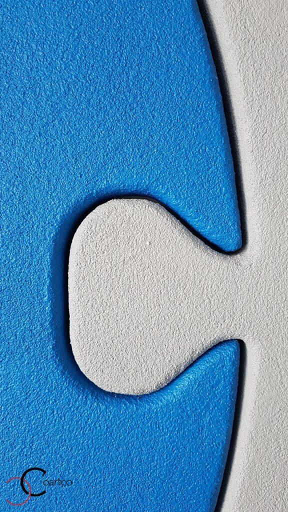 Imbinare piese puzzle din polistiren CoArtCo pentru decor perete interior