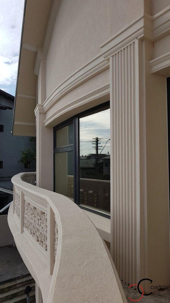 Mana curenta balcon cu profile decorative din polistiren CoArtCo curbate