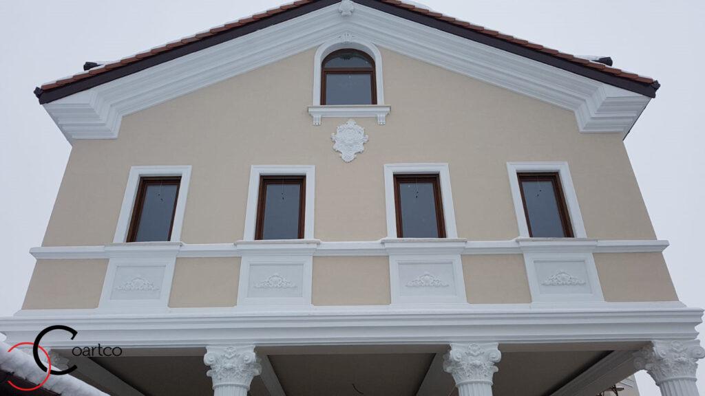 Proiect casa rezidentiala cu profile decorative din polistiren CoArtCo
