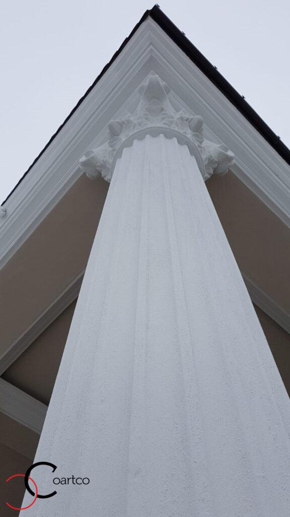 Coloana decorativa din polistiren CoArtCo pentru exterior