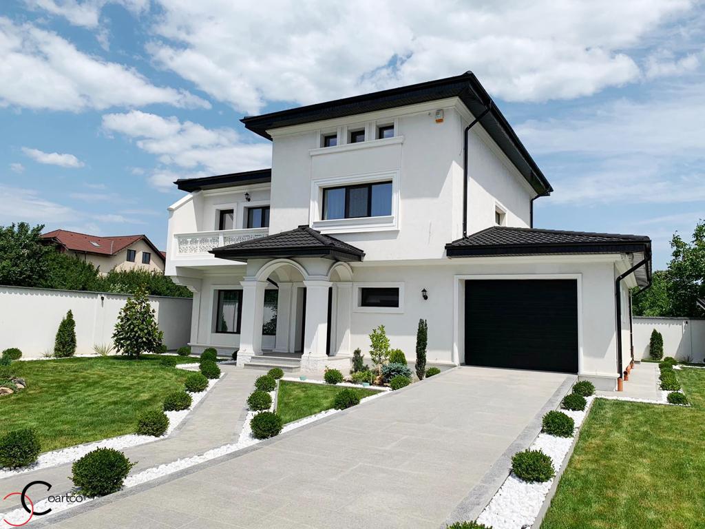 Proiect fatada casa cu profile decorative CoArtCo
