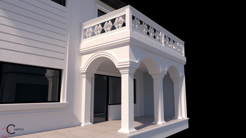 Serviciu simulare 3D cu profile decorative CoArtCo