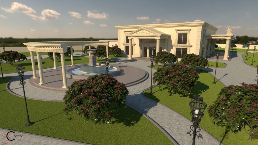 Proiect salon evenimente cu elemente arhitecturale
