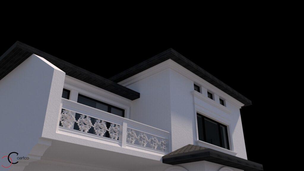 Simulare 3D fatada casa