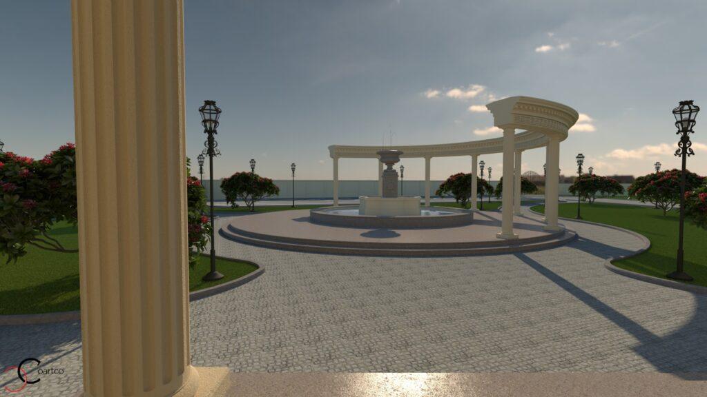 Fantana arteziana cu coloane grecesti nunti evenimente