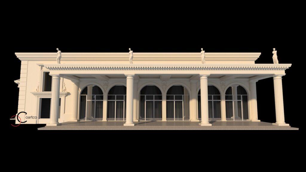 Coloane grecesti salon nunti design exterior