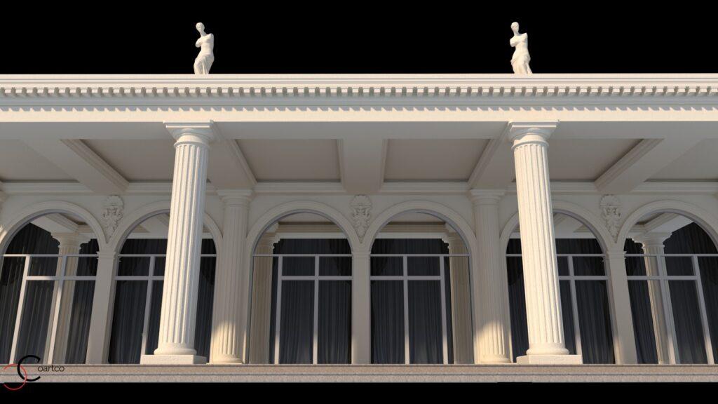 Statui terasa coloane romane