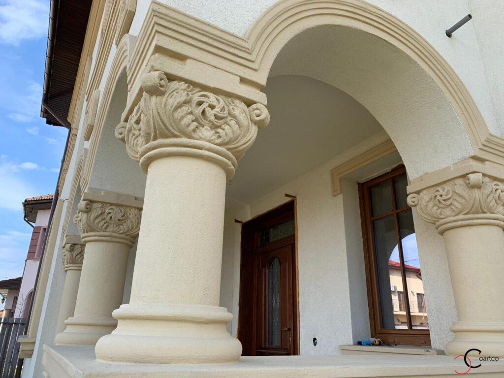 Coloana cu capitel neoromanesc si arcade din polistiren CoArtCo