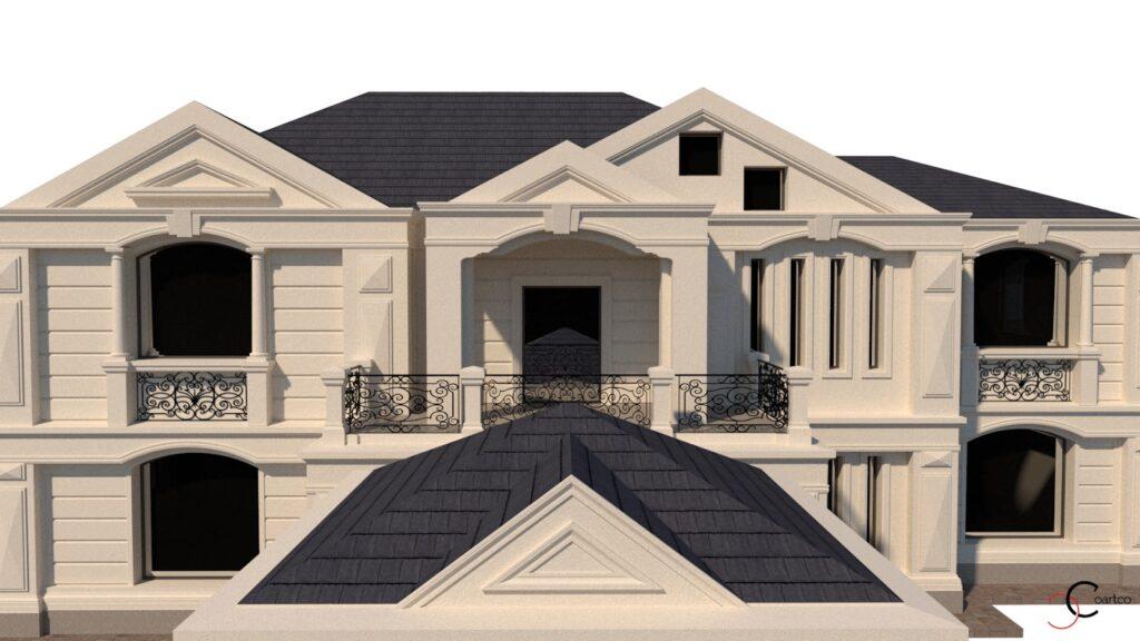 Simulare fatada casa 3D cu profile din polistiren CoArtCo