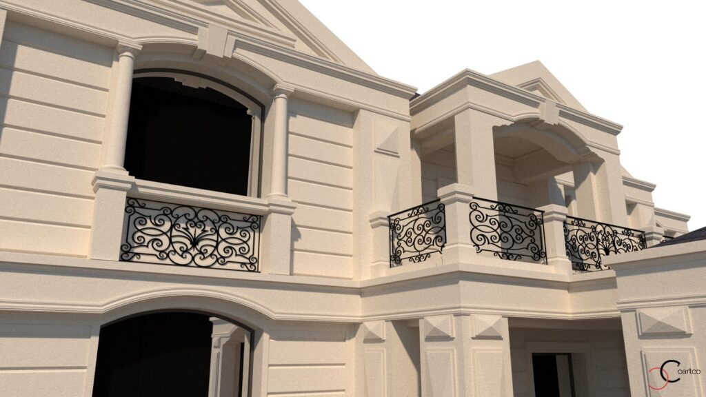 Simulare 3D design fatada casa CoArtCo